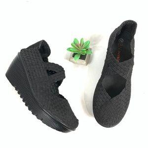 Bernie Mev Drake Mary Jane Woven Elastic Shoes